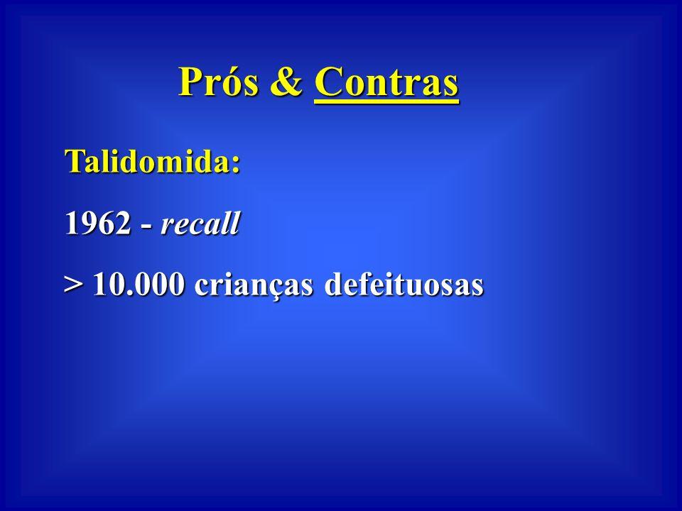 Prós & Contras Talidomida: 1962 - recall