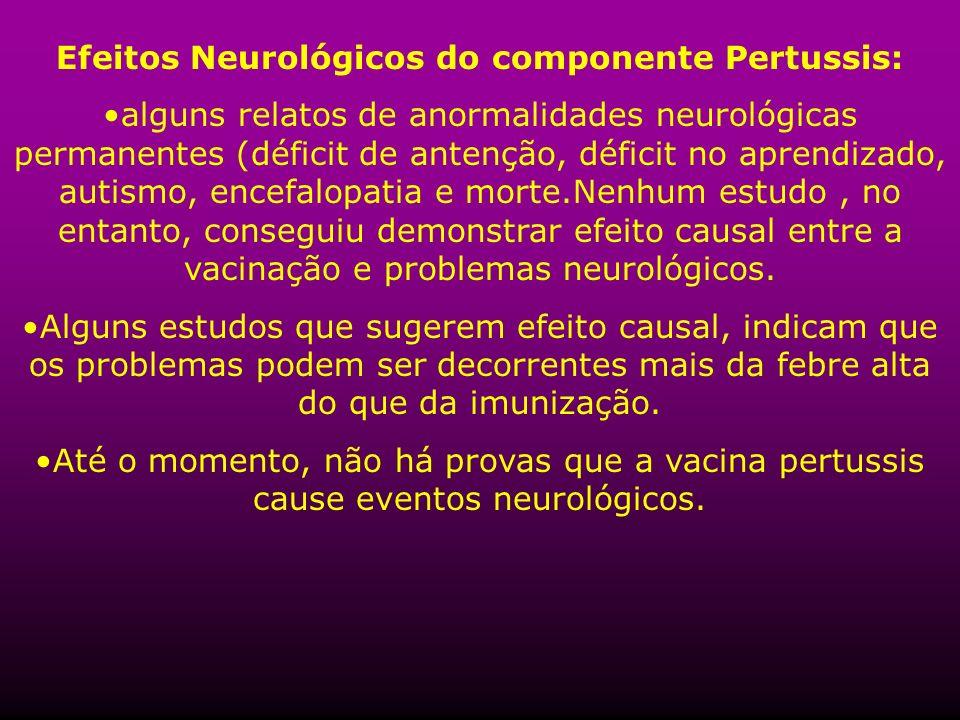 Efeitos Neurológicos do componente Pertussis: