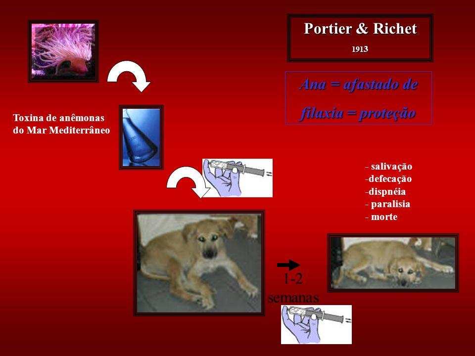 Portier & Richet Ana = afastado de filaxia = proteção