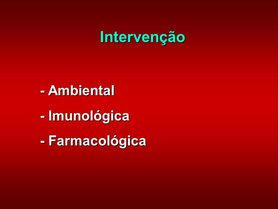 Intervenção - Ambiental - Imunológica - Farmacológica