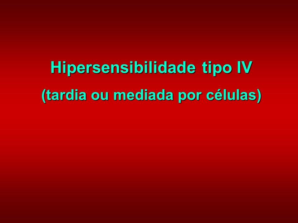 Hipersensibilidade tipo IV (tardia ou mediada por células)