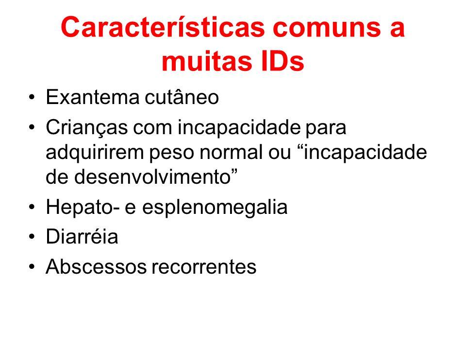 Características comuns a muitas IDs