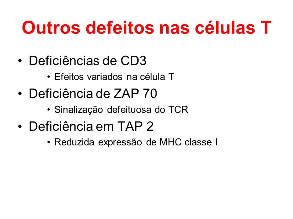 Outros defeitos nas células T