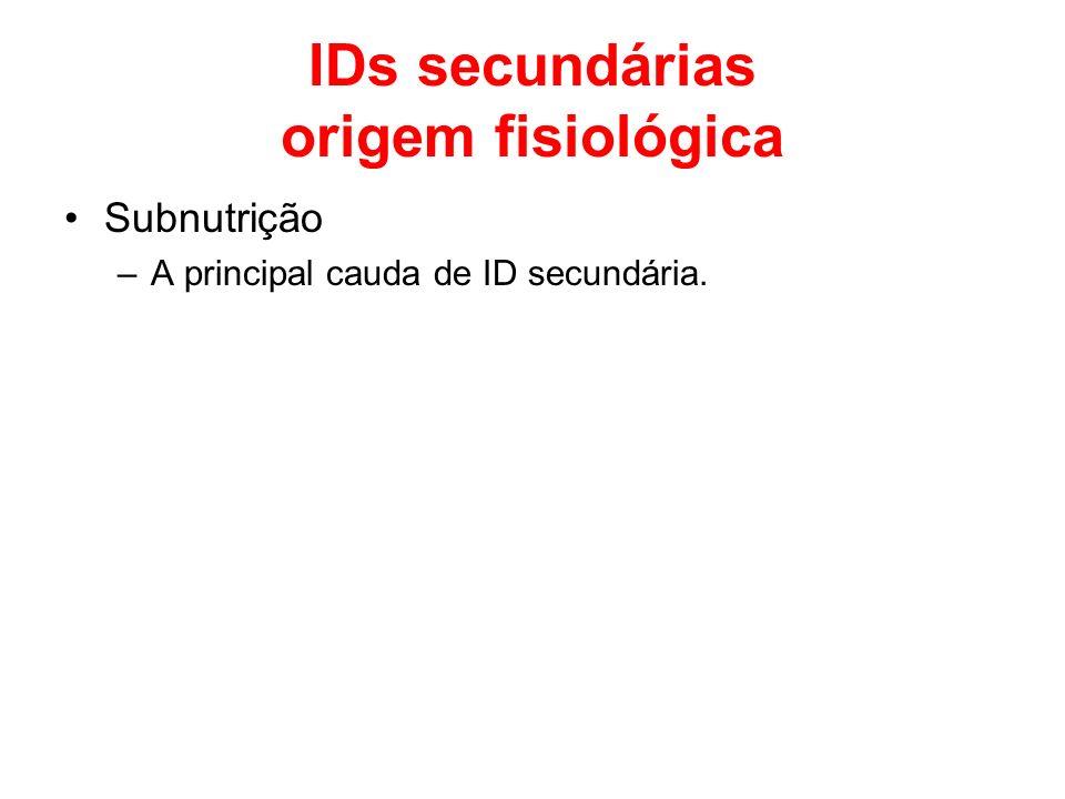 IDs secundárias origem fisiológica