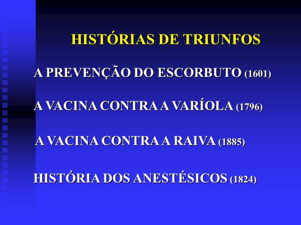HISTÓRIAS DE TRIUNFOS A PREVENÇÃO DO ESCORBUTO (1601)