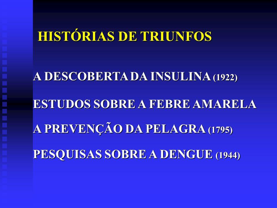 HISTÓRIAS DE TRIUNFOS A DESCOBERTA DA INSULINA (1922)