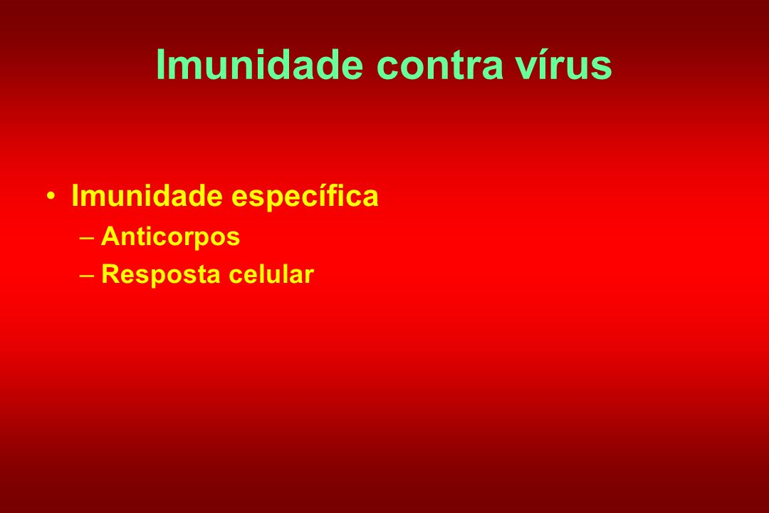 Imunidade contra vírus