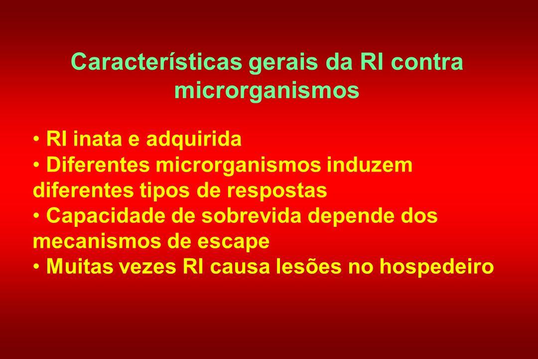 Características gerais da RI contra microrganismos