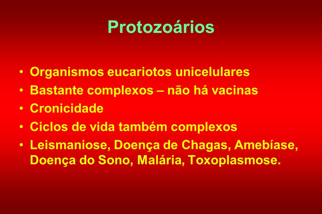 Protozoários Organismos eucariotos unicelulares