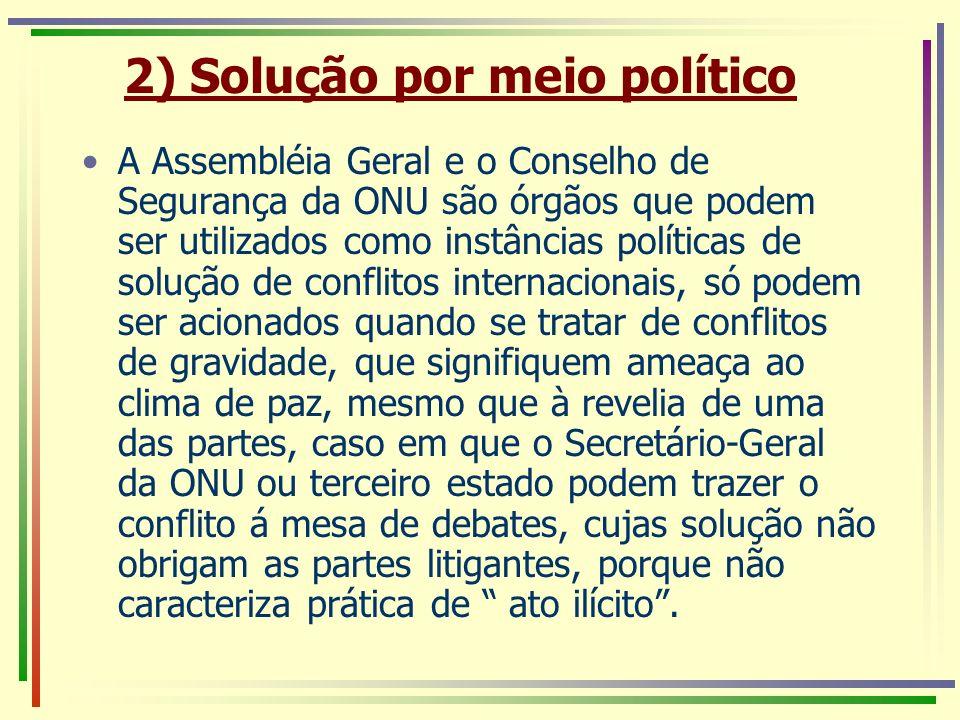 2) Solução por meio político