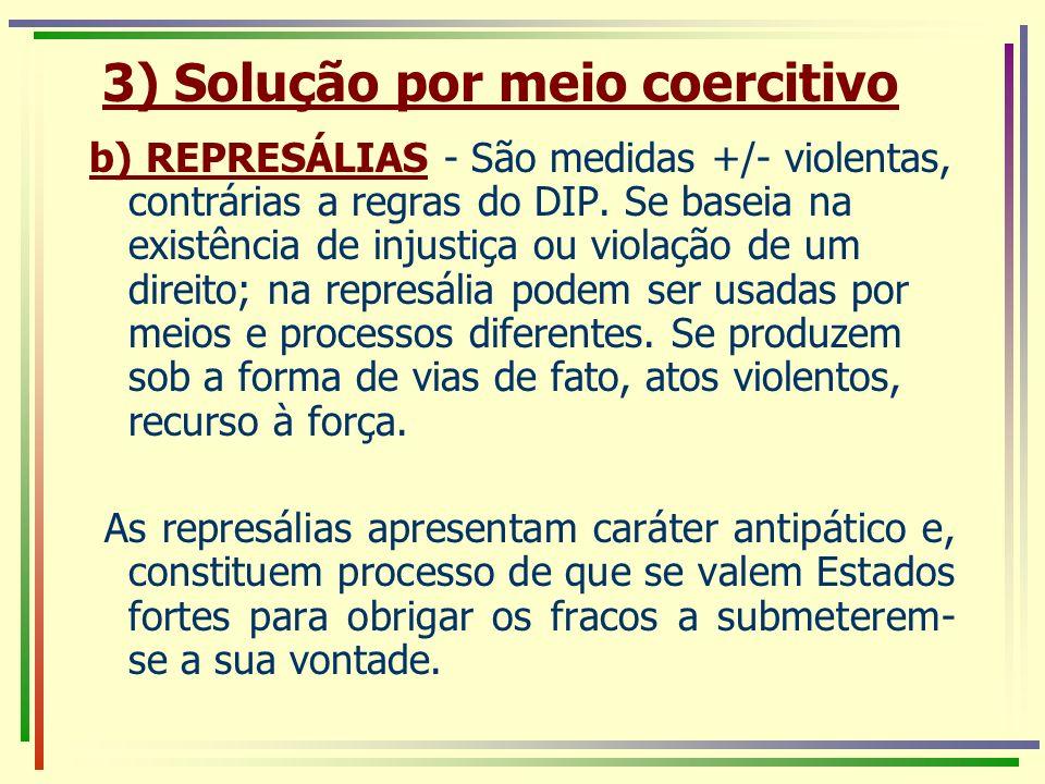 3) Solução por meio coercitivo