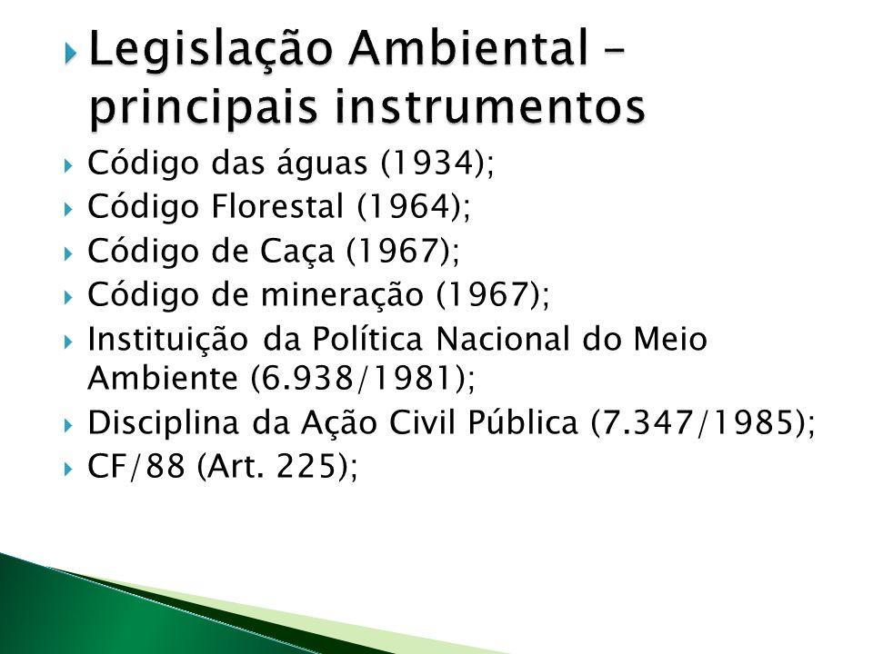 Legislação Ambiental – principais instrumentos