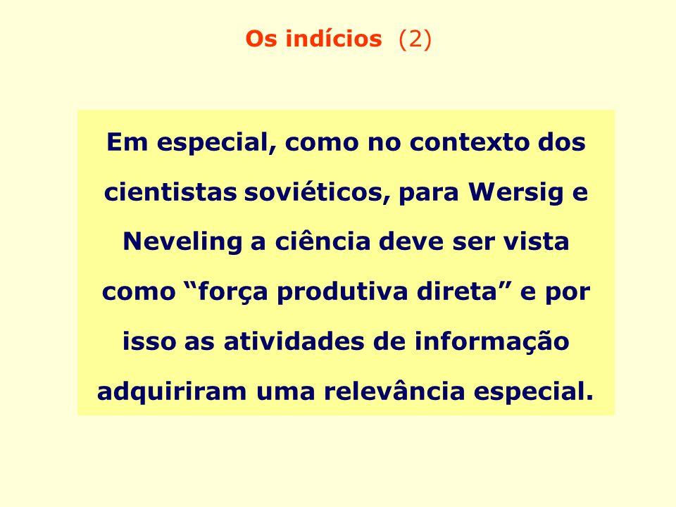 Os indícios (2)
