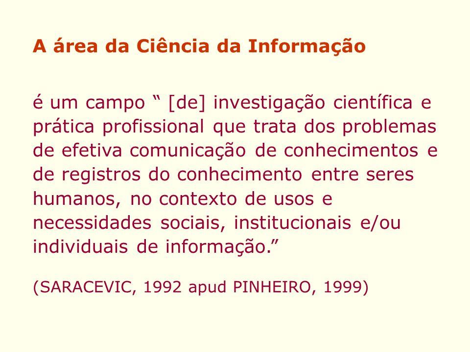 A área da Ciência da Informação