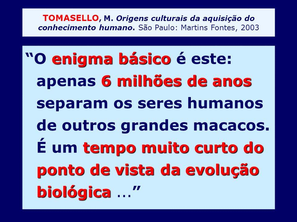 TOMASELLO, M. Origens culturais da aquisição do conhecimento humano