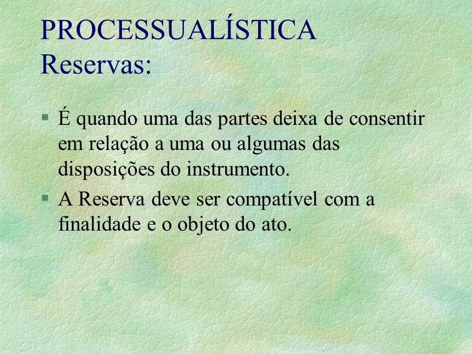 PROCESSUALÍSTICA Reservas: