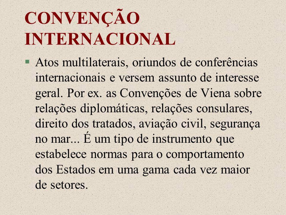 CONVENÇÃO INTERNACIONAL