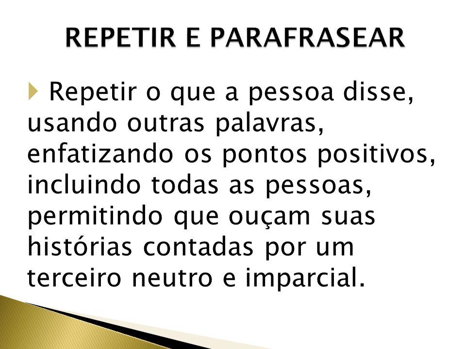 REPETIR E PARAFRASEAR