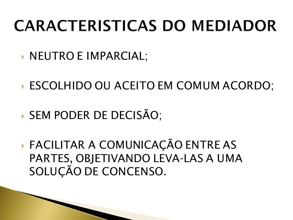 CARACTERISTICAS DO MEDIADOR