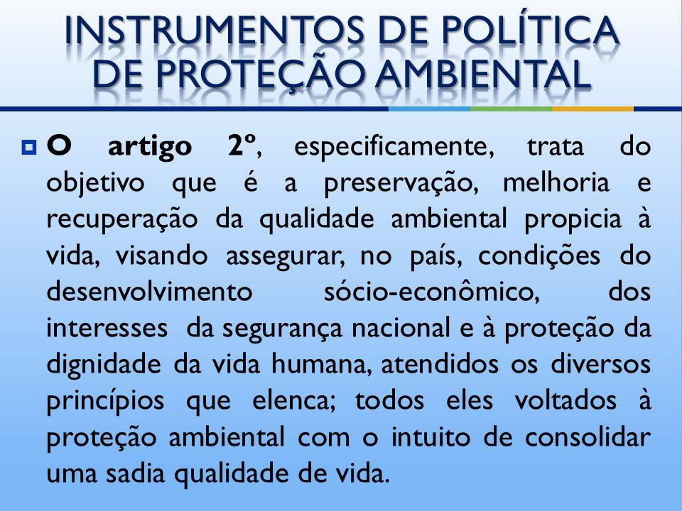 INSTRUMENTOS DE POLÍTICA DE PROTEÇÃO AMBIENTAL