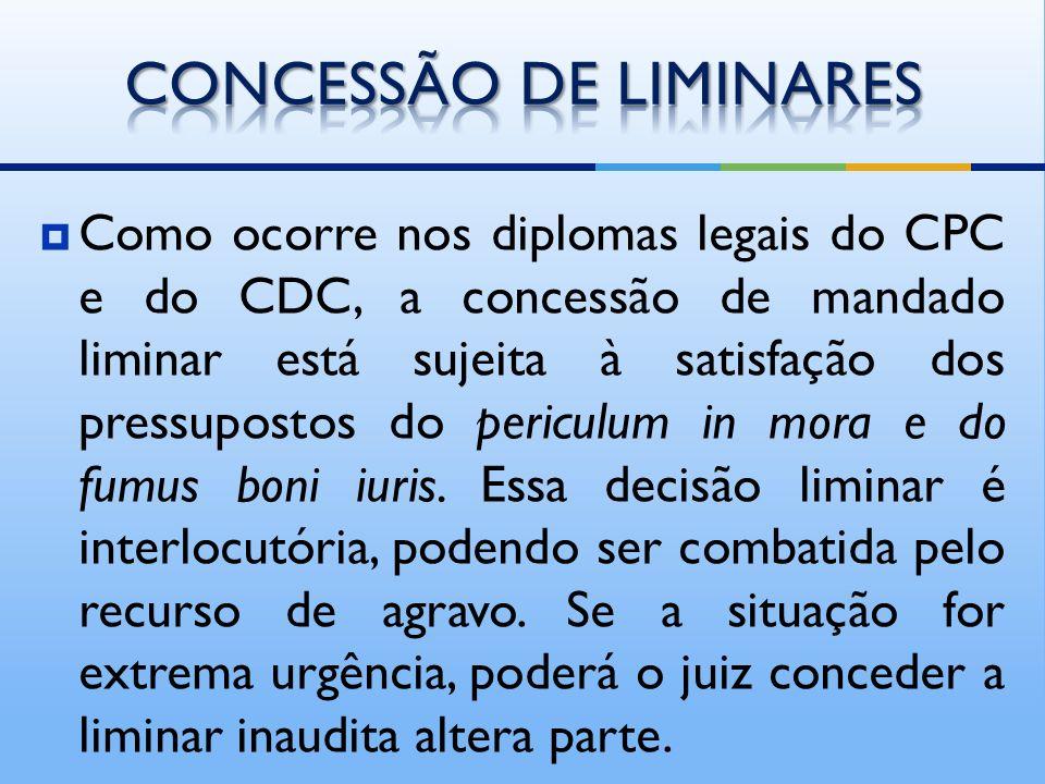 CONCESSÃO DE LIMINARES