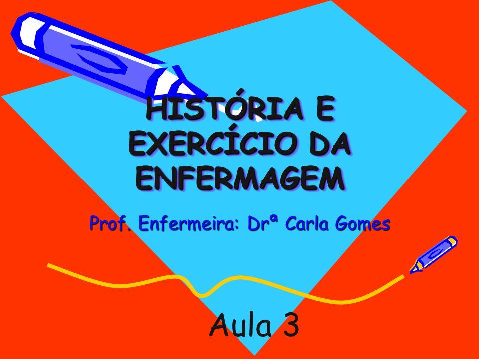 HISTÓRIA E EXERCÍCIO DA ENFERMAGEM