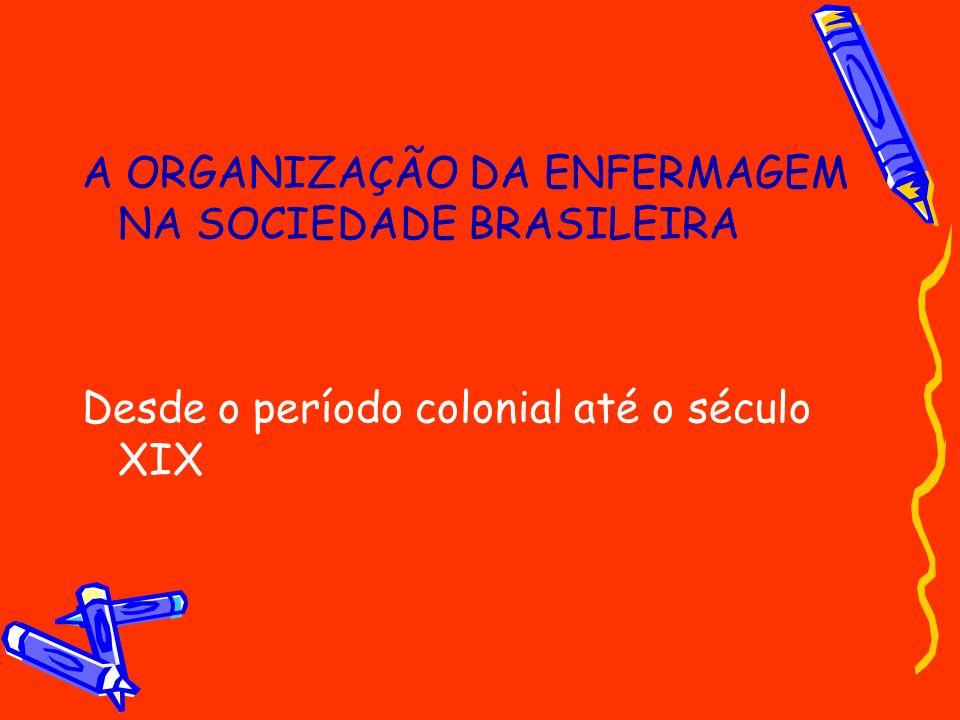 A ORGANIZAÇÃO DA ENFERMAGEM NA SOCIEDADE BRASILEIRA