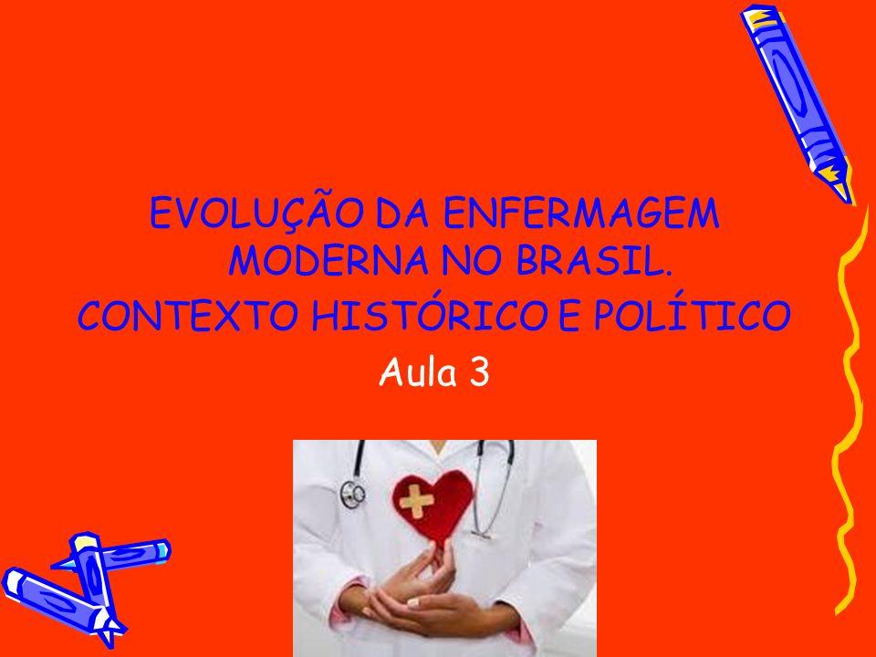 EVOLUÇÃO DA ENFERMAGEM MODERNA NO BRASIL.