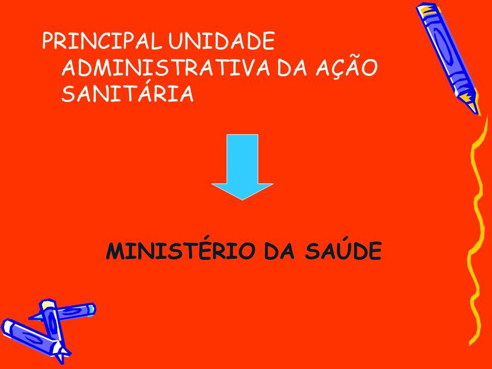 PRINCIPAL UNIDADE ADMINISTRATIVA DA AÇÃO SANITÁRIA