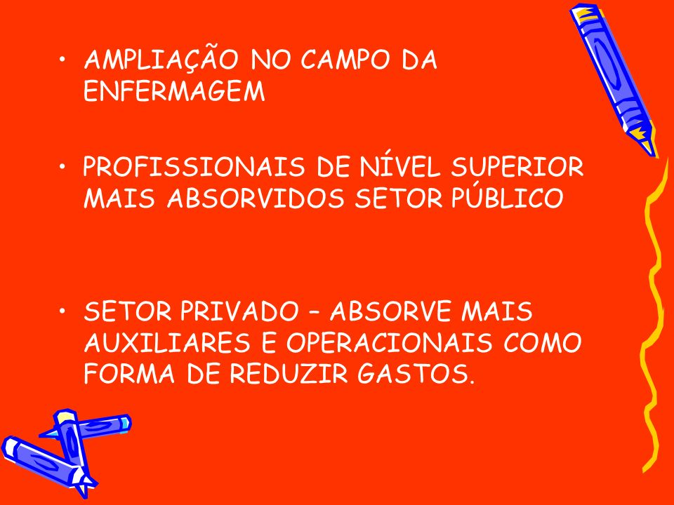 AMPLIAÇÃO NO CAMPO DA ENFERMAGEM