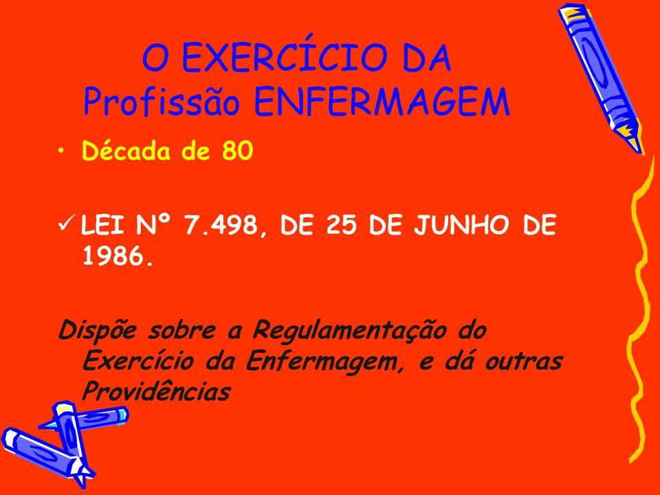 O EXERCÍCIO DA Profissão ENFERMAGEM