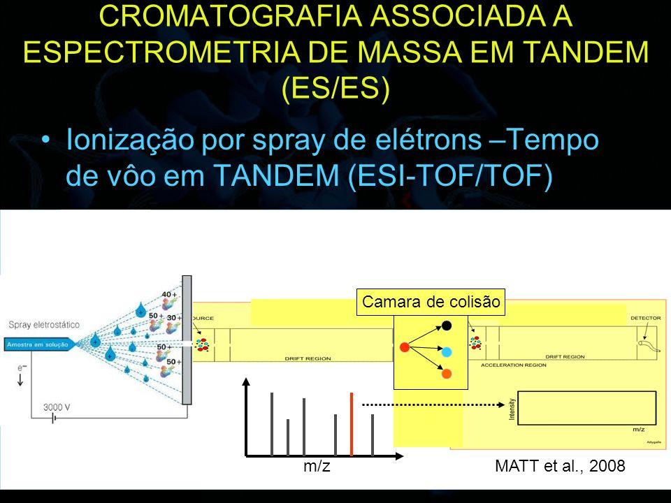 CROMATOGRAFIA ASSOCIADA A ESPECTROMETRIA DE MASSA EM TANDEM (ES/ES)