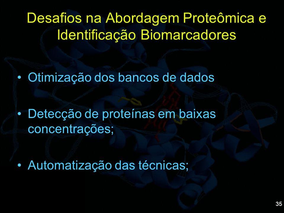 Desafios na Abordagem Proteômica e Identificação Biomarcadores