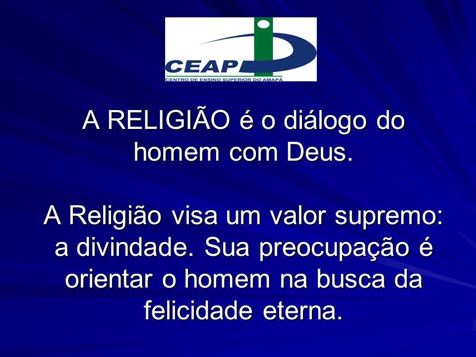 A RELIGIÃO é o diálogo do homem com Deus