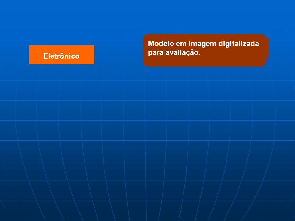 Eletrônico Modelo em imagem digitalizada para avaliação.