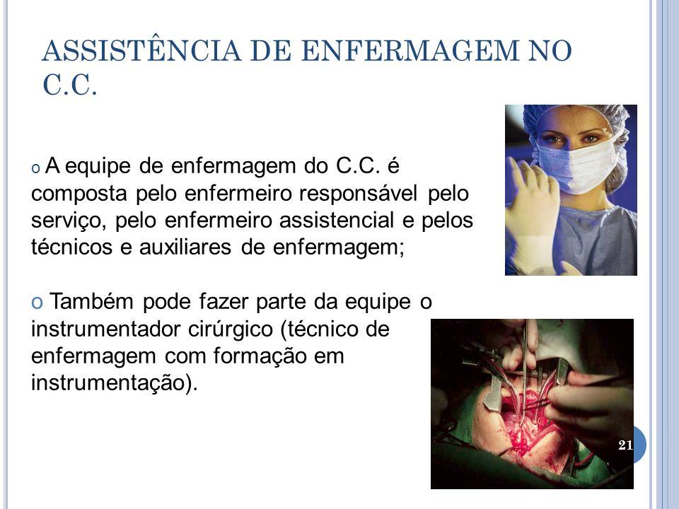 ASSISTÊNCIA DE ENFERMAGEM NO C.C.