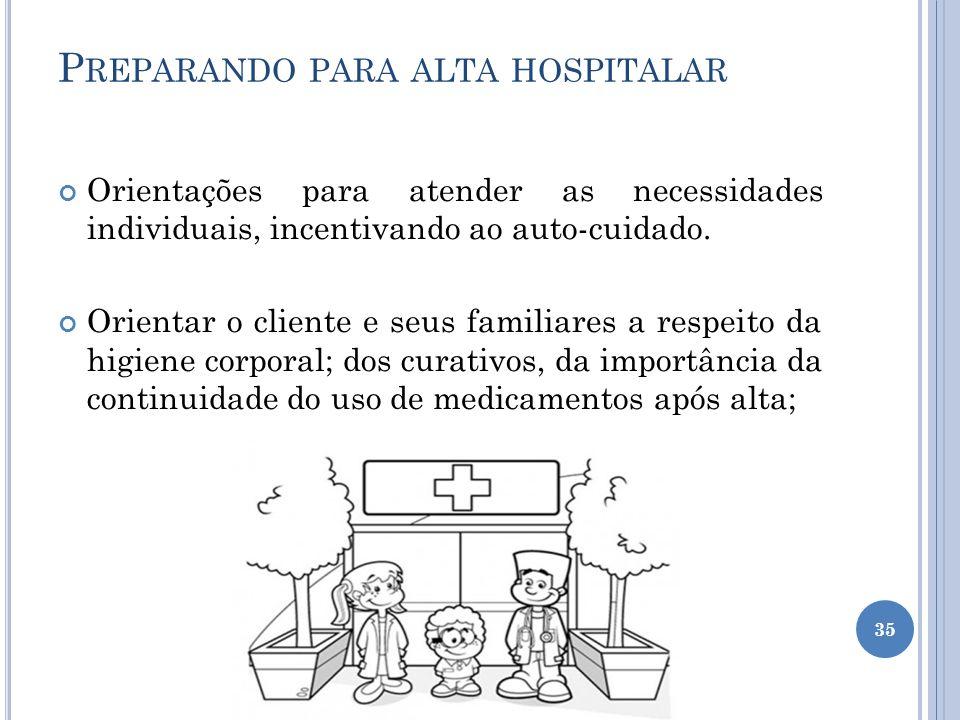 Preparando para alta hospitalar