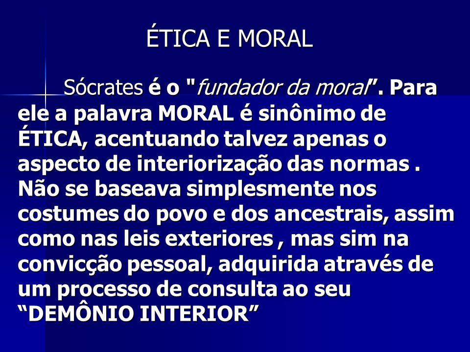 Sócrates é o fundador da moral