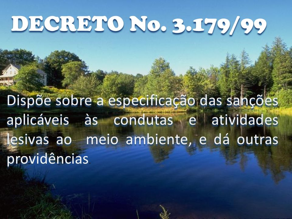 DECRETO No. 3.179/99