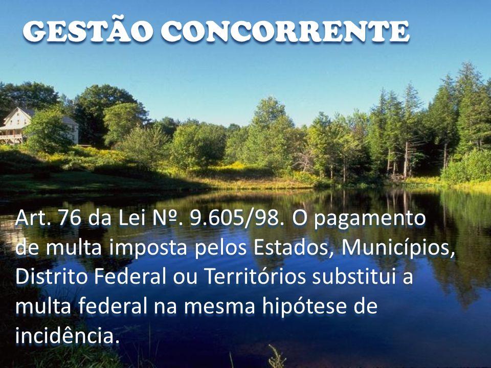GESTÃO CONCORRENTE Art. 76 da Lei Nº. 9.605/98. O pagamento