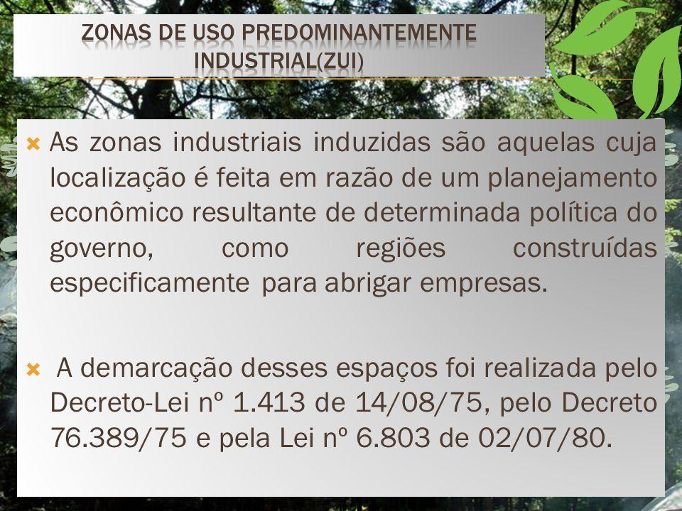 Zonas de uso predominantemente industrial(zui)