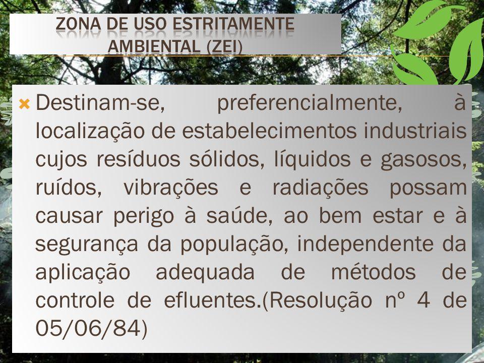 Zona de uso Estritamente Ambiental (ZEI)