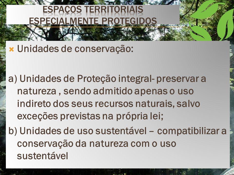 Espaços territoriais especialmente protegidos