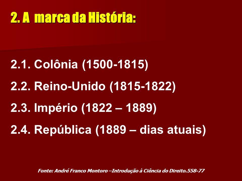 A marca da História: 2.1. Colônia (1500-1815)