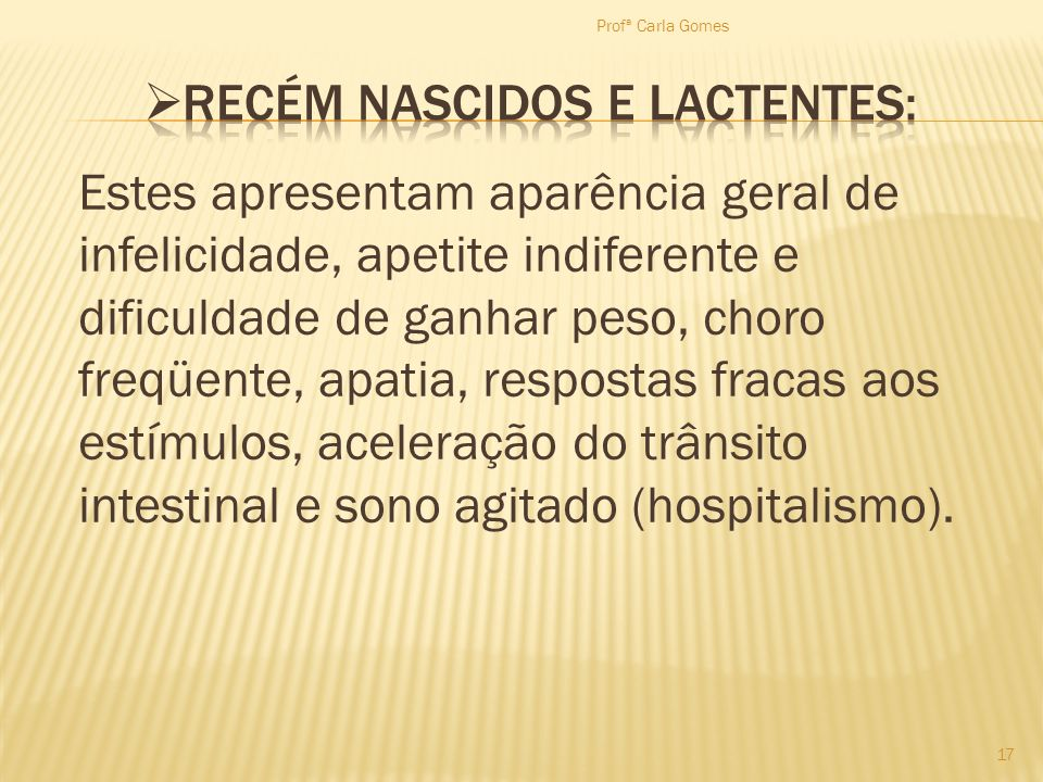 RECÉM NASCIDOS E LACTENTES: