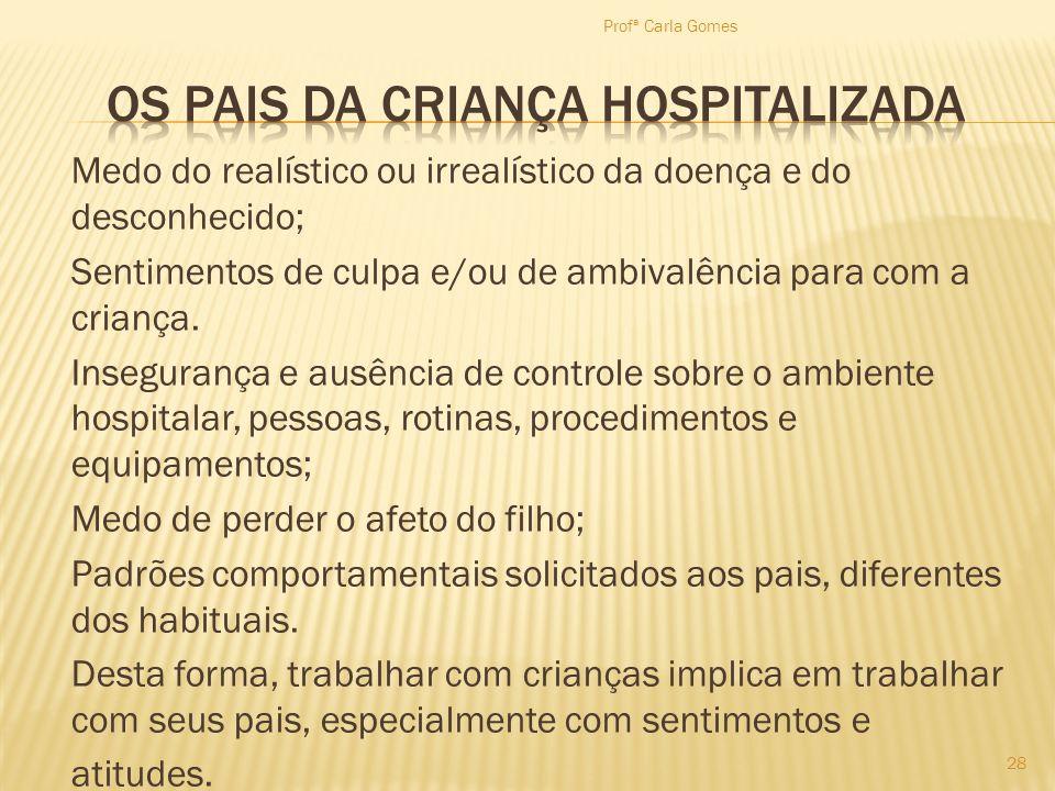 OS PAIS DA CRIANÇA HOSPITALIZADA