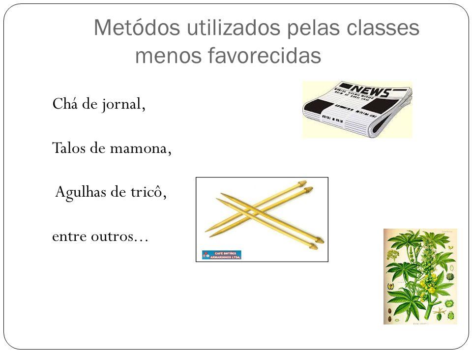 Metódos utilizados pelas classes menos favorecidas
