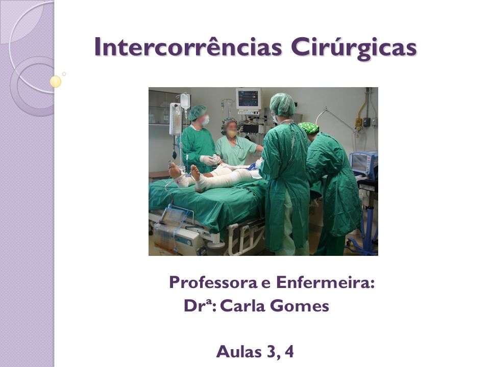 Intercorrências Cirúrgicas