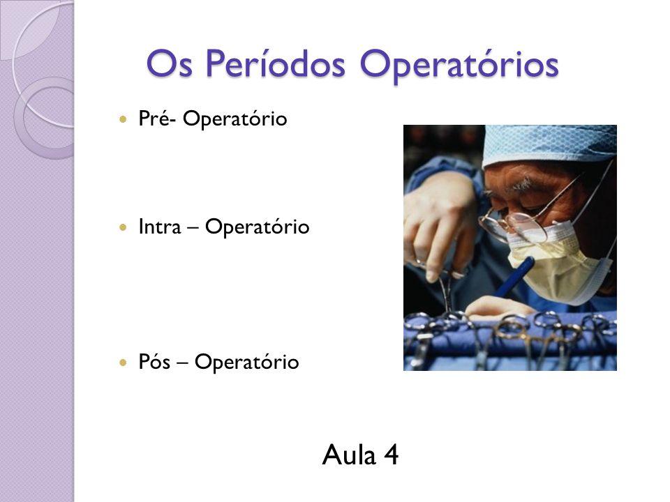 Os Períodos Operatórios