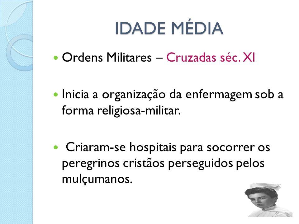 IDADE MÉDIA Ordens Militares – Cruzadas séc. XI